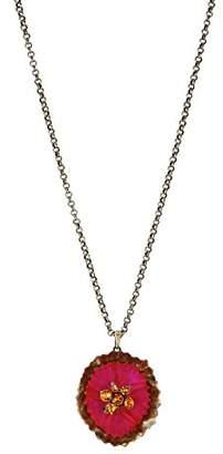 Konplott Women's Chain with Pendant Brass Samurai Bloom Glass Multi 38 cm – 5450543483306
