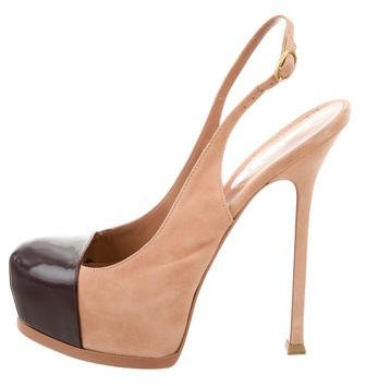 Saint Laurent Yves Saint Laurent Tribtoo Slingback Pumps