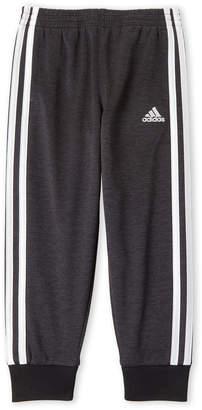 adidas Boys 4-7) Fleece Stripe Joggers
