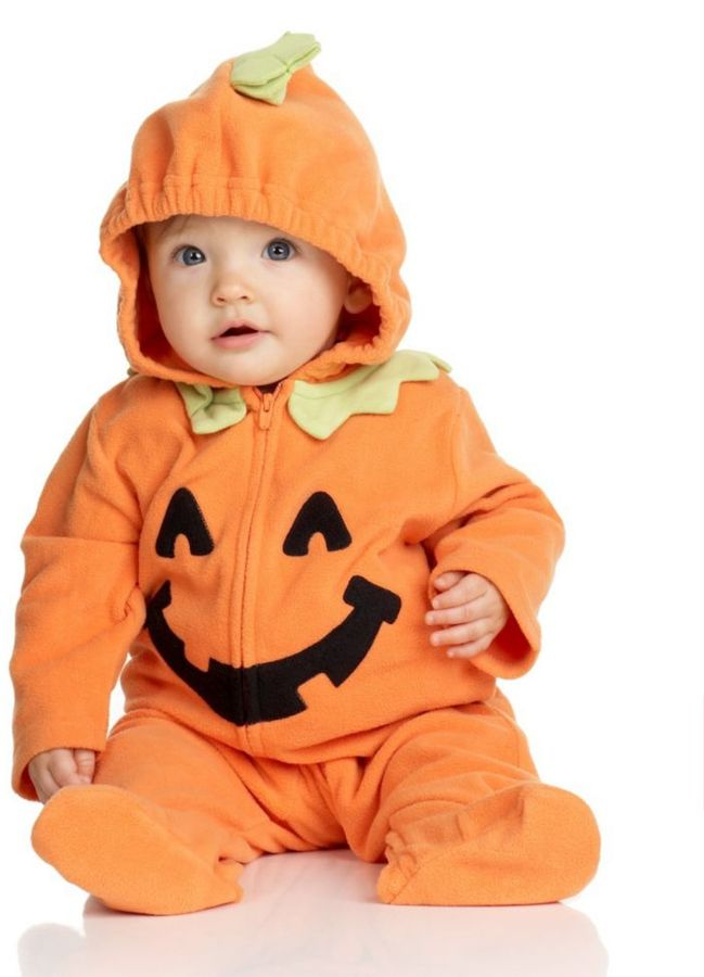 Carter's Baby Girl or Boy Pumpkin Coverall, Halloween Costume