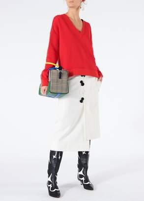 Tibi Mora Suiting Asymmetrical Flap Skirt
