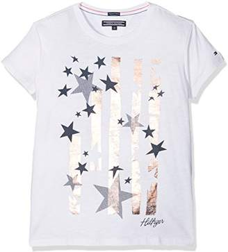 f147cb5d Tommy Hilfiger Girl's Bright Stars Tee S/s T-Shirt,(Manufacturer Size