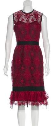 Catherine Deane Sleeveless Lace Dress