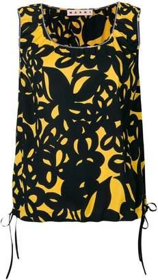 Marni floral print tank top