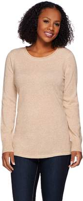 Isaac Mizrahi Live! 2-Ply Cashmere Marled Pullover Sweater