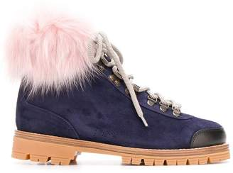 Mr & Mrs Italy fur-trimmed hiking boots
