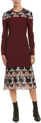 Yigal Azrouel Lace Midi Dress