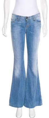 Hudson Low-Rise Flared Jeans