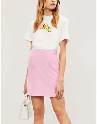STAUD Phoebe A-line corduroy skirt