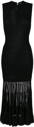 Alexander McQueen sheer panel sleeveless dress