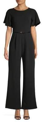 Calvin Klein Wide-Leg Belted Jumpsuit