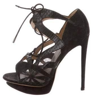 Nicholas Kirkwood Lace-Up Platform Heels