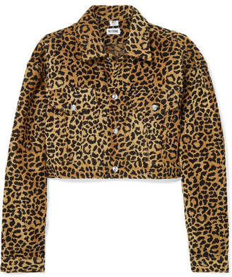 RE/DONE Cropped Leopard-print Velvet Jacket - Leopard print