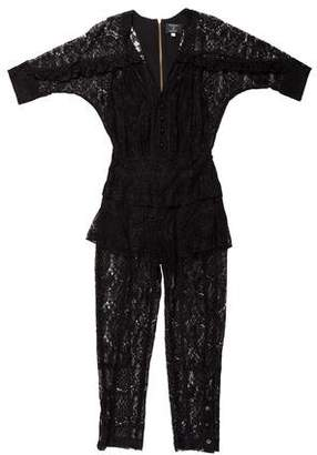 Mayle Short Sleeve Lace Jumpsuit w/ Tags