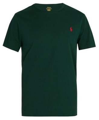 Polo Ralph Lauren Logo Embroidered Cotton Jersey T Shirt - Mens - Green