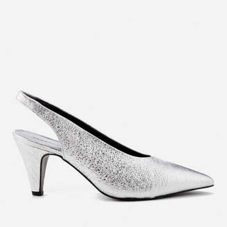 Rebecca Minkoff Women's Simona Slingback Court Shoes - Rock Silver