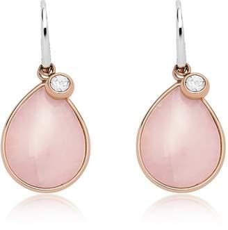 Fossil Teardrop Pink Semi-Precious Earrings