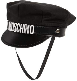 Moschino Cotton Hat W/ Logo Lettering