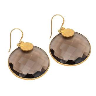 Carousel Jewels - Smoky Quartz Disc Earrings