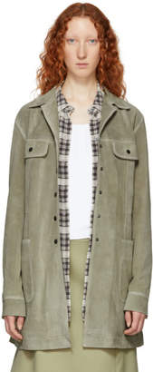 Marc Jacobs Grey Redux Grunge Suede Jacket