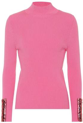 DELPOZO Sequined merino wool sweater