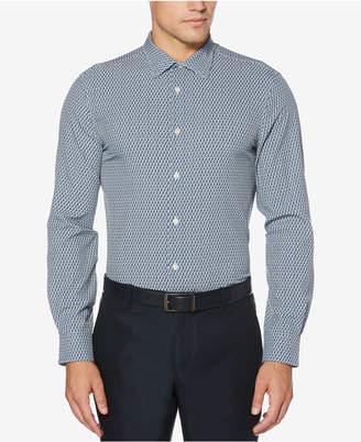 Perry Ellis Men's Slim-Fit Mini-Triangle Shirt