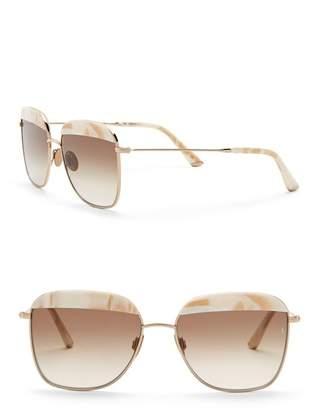 Cat Eye SUNDAY SOMEWHERE Vito 57mm Square Sunglasses