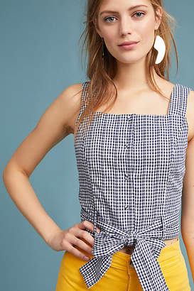 J.o.a. Cropped Gingham Tank