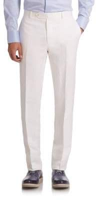 Saks Fifth Avenue COLLECTION BY SAMUELSOHN Classic-Fit Linen& Silk Trousers