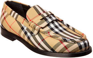 Burberry Vintage Check Leather Loafer