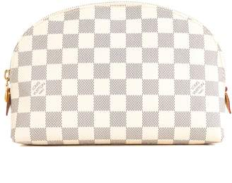 Louis Vuitton Damier Azur Canvas Cosmetic GM Pouch (Pre Owned)