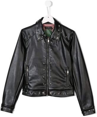5f92ddd60d6 John Richmond Junior Teen studded faux leather jacket