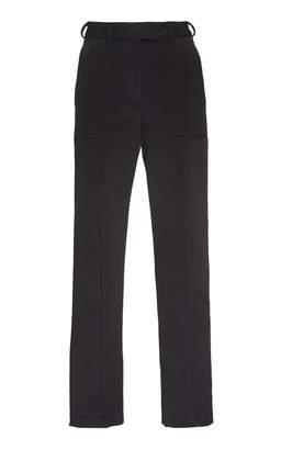 David Koma Cropped Satin Straight-Leg Trousers