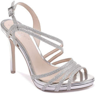 Badgley Mischka Humble Sparkle Strap Sandals