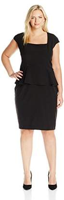 Single Dress Women's Plus-Size Peplum Fitted Dress $178.48 thestylecure.com