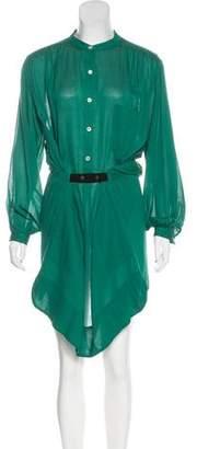 Etoile Isabel Marant Button-Up Long Sleeve Midi Dress
