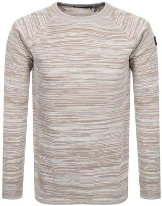 Raw Core Knit Jumper Beige