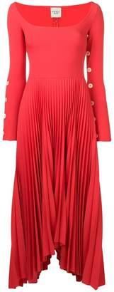 Awake pleated asymmetric dress