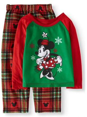 Disney Minnie Mouse Holiday Family Sleep Pajamas, 2-piece Set (Toddler Girls)
