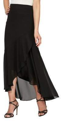 Alex Evenings High-Low Chiffon Skirt