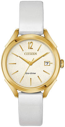 DRIVE FROM CITIZEN ECO-DRIVE Drive from Citizen Womens White Strap Watch-Fe6142-08a