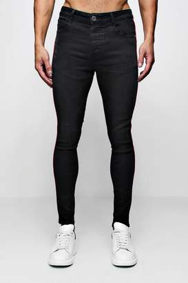 boohoo Super Skinny Jeans With Piped Side Seam