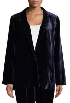 Eileen Fisher Long Velvet Blazer
