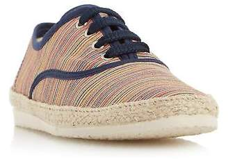 Mens FRASIER Multi Striped Lace Up Espadrille Shoe in Multi