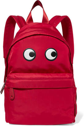 Anya Hindmarch Eyes Appliquéd Shell Backpack - Red