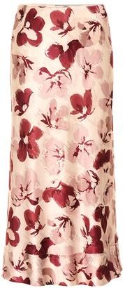 Lee Mathews Exclusive to Mytheresa Lucinda floral satin midi skirt