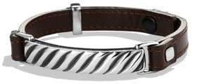 David Yurman Modern Cable ID Leather Bracelet