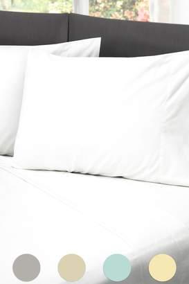 Rio Home Hotel Laundry Cotton Rich Sheet Set - White