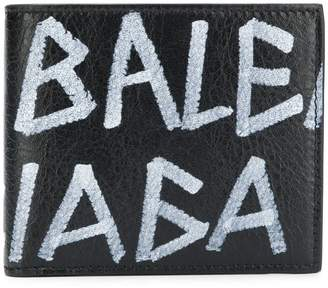 Balenciaga graffiti square wallet
