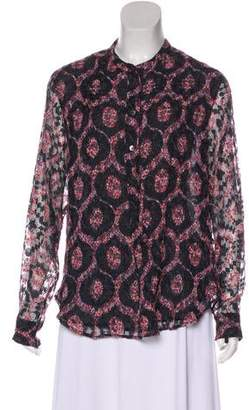 Isabel Marant Silk-Blend Perforated Top